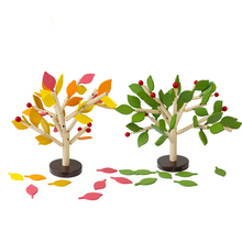 Wooden Cartoon Leaf Tree Puzzle Toy Creative 3D Puzzle DIY Handmade  Early Educational Toys For Children Christmas Gift QB234