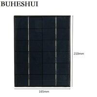 BUHESHUI 5.2Watt 6V Solar Cell Polycrystalline Solar Panel Solar Module DIY Solar Charger System For Battery Epoxy 10pcs/lot