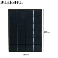 BUHESHUI 5.2Watt 6V Solar Cell Polycrystalline Solar Panel Solar Module DIY Solar Charger System For Battery Epoxy 10pcs/lot