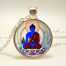 """Buddha pendant and necklace, Buddha jewelry. Buddhist pendant.""sliver plated,christmas gift(China)"