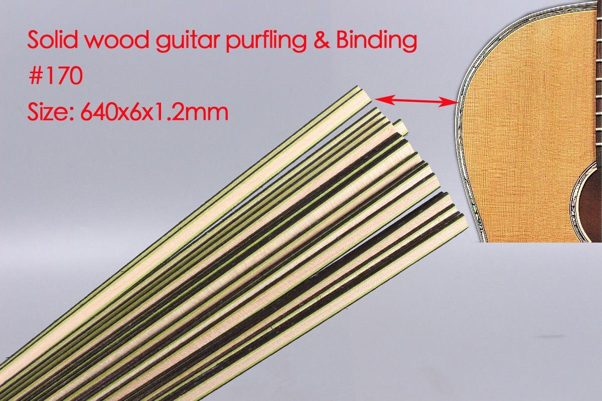 New 25x Guitar Strip Wood Purfling Binding Guitar Body Wood Inlay 640x6x1.2mm