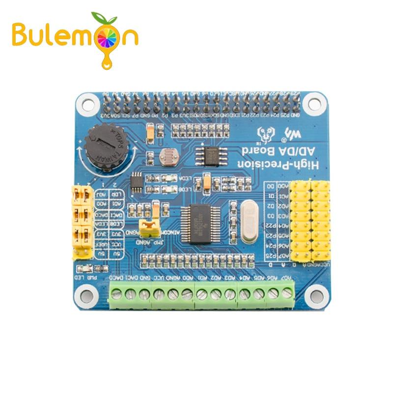 ADS1256 DAC8552 High Precision AD/DA Digital Module Expansion Board For Raspberry Pi A+/B+/2B RP014