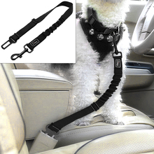 Black Car Seat Belt Dog Leash Vehicle Nylon Pet Safety Elastic Lead For Small Medium Large Dogs