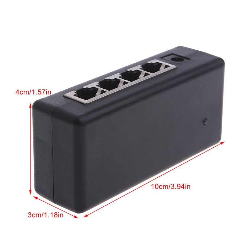 4 Port POE Injector For CCTV Surveillance IP Cameras Power Over Ethernet Adapter Drop Shipping Support