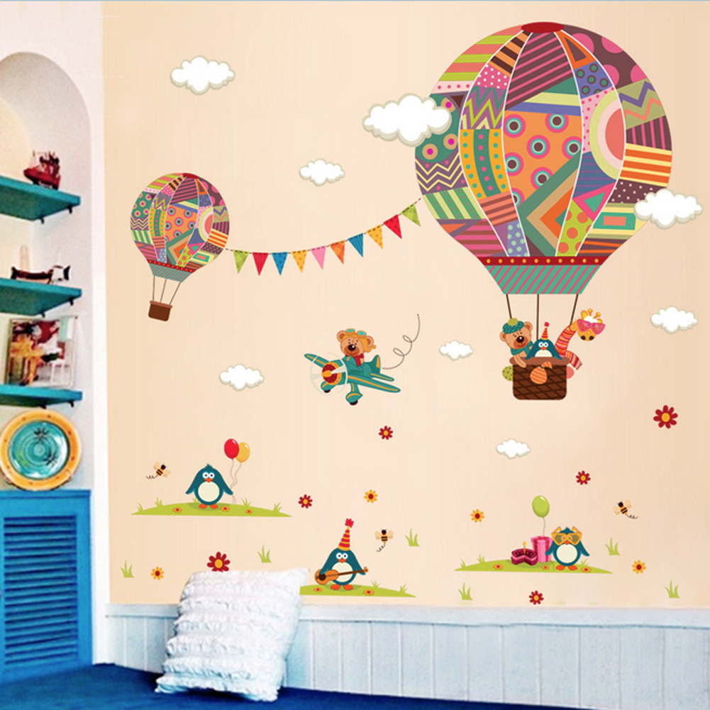 Hot Air Balloon Wall Stickers Living Room Background Wall Stickers Part 53
