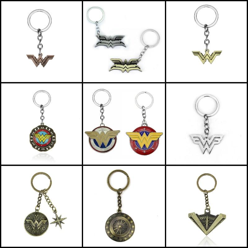 Hot Movie Wonder Woman Key Chain Superhero Keychain Keyring for Car Keys Key Holder Jewelry