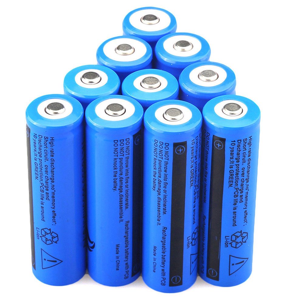 FGHGF Brand 2018 65mm x 18mm 10PCS 3.7V 5000mAH Li-ion Rechargeable 18650 Battery For Flashlight Torch for emergency lighting