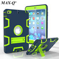 Para apple ipad mini 1 2 3 almohadilla cubierta de silicona pc soporte de la bolsa bolsa de protección armor shell tablet case protector libre de la pantalla película