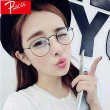 Psacss NEW 2019 Vintage Round Sunglasses Women Men Glasses Luxury Brand Designer Retro Literary Metal Frame For Womens Mirror