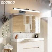 EGOBOO Wall Lamp Led bathroom mirror lights Black/White 40/60/80/cm Modern makeup dressing bathroom led mirror lamp fixture цены онлайн