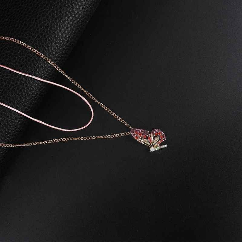 Farbe Märchen Schmetterling Stud Ohrringe Halskette Haarnadel Mode Schmuck Frauen