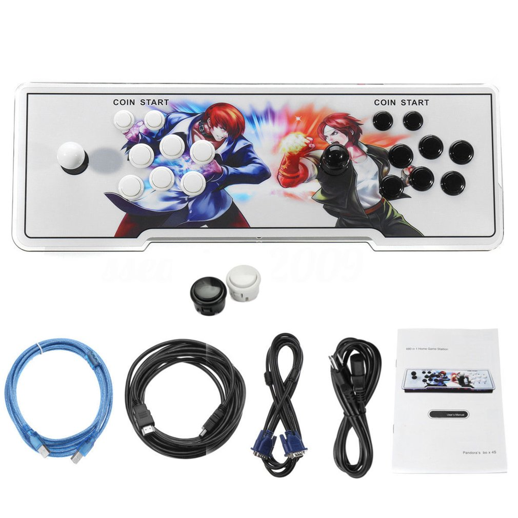 Kit de Console de jeu d'arcade multijoueur 846 en 1 pour TV à domicile Double Joystick Console de jeu pour enfants avec fonction Pause
