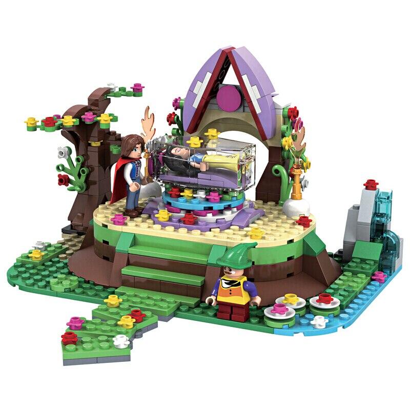 weile serie princesa snow white cristal caixao building blocks define bricks amigos modelo criancas brinquedos classicos