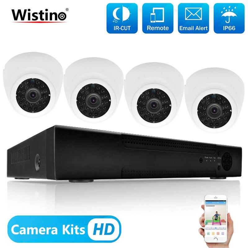 Wistino 8CH NVR видеонаблюдения Системы комплект 1080 P 4 шт. IP Камера Ночное видение видео Регистраторы монитор наблюдения Наборы H.265 XMeye
