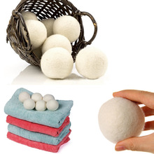 2Pcs Laundry Clean Ball Reusable Natural Organic Laundry Fabric Softener Ball Premium Wool Dryer Balls photochromic wool fabric