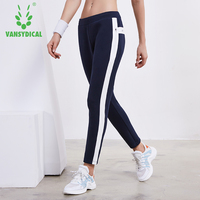 Vansydical Women Sports Yoga Leggings Running Pants Gym Pants Breathable Sweatpants Outdoor Joggers Workout Jogging Trousers