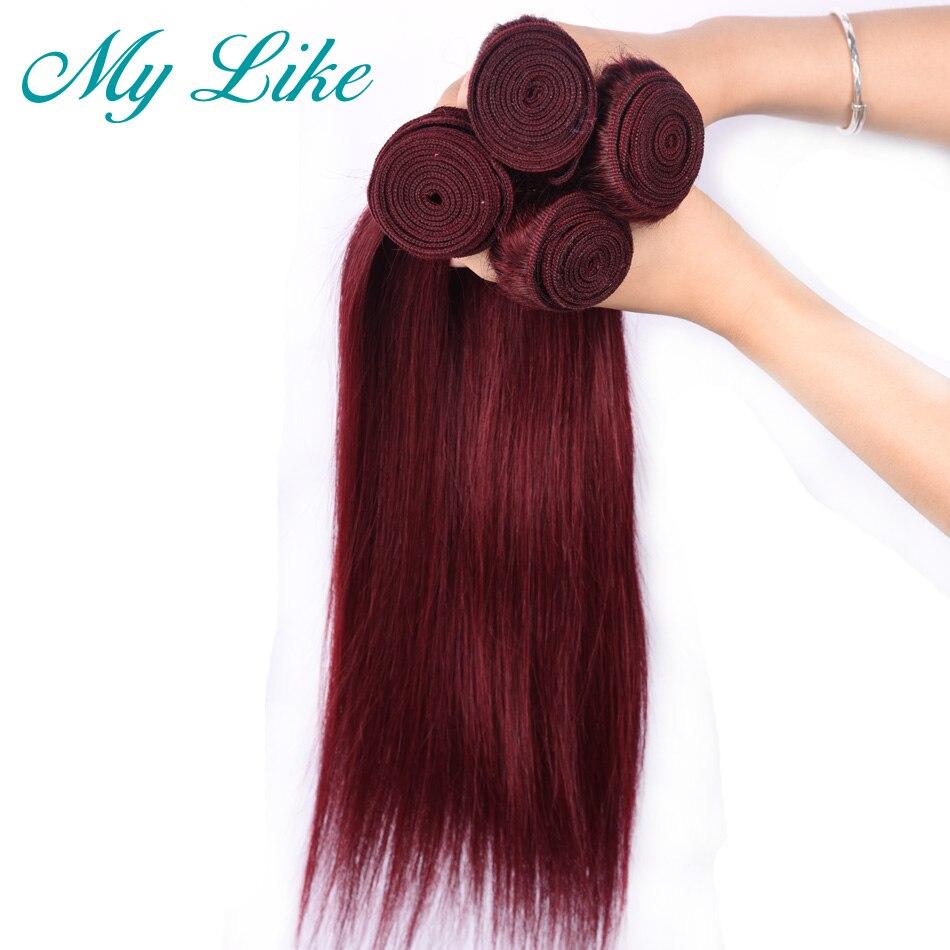 Aliexpress.com  Comprar Mi como Pre color de pelo peruano 4 paquetes de 99j  Borgoña no remy extensiones de cabello humano extensiones de vino rojo recto  ... 5778f08b2c43