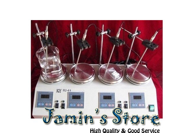Brand New 4 Units Multi Unit Digital Thermostatic Magnetic Stirrer Hotplate Hot Plate Mixer