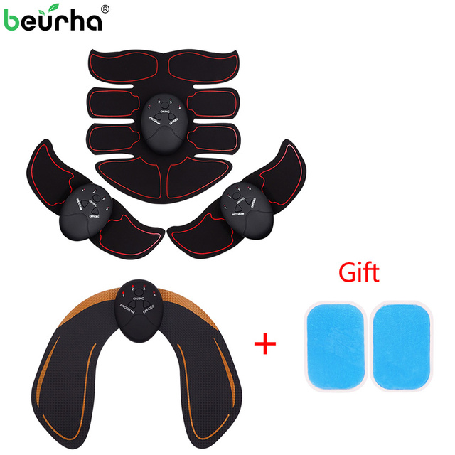 Smart EMS Hips Trainer Electric Muscle Stimulator Wireless Buttocks Abdominal ABS Stimulator Fitness Body Slimming Massager New