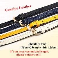 Replacement Ladies shoulder strap bag Accessory,Genuine Leather Long Shoulder Strap (95cm+35cm)*1.25cm