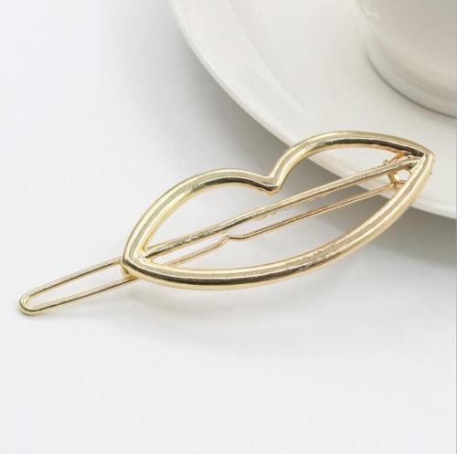 HTB1bEAkPpXXXXX1XVXXq6xXFXXXM Chic Gold/Silver Plated Metal Triangle Circle Moon Hair Clip For Women - 4 Styles
