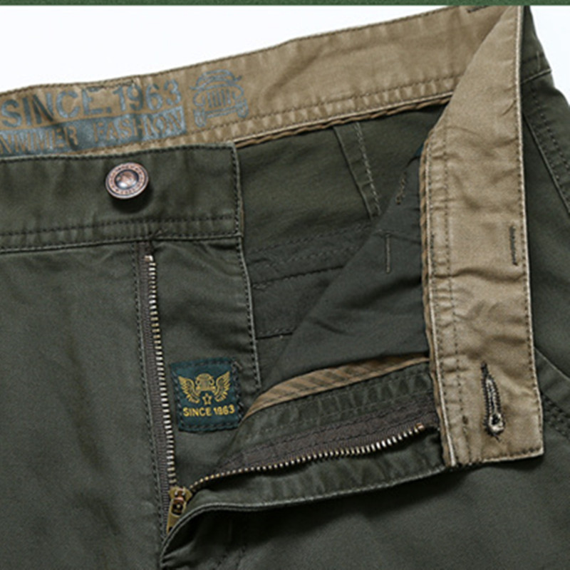 NIANJEEP Pantalones de Carga Para Hombre de Algodón Militar - Ropa de hombre - foto 4