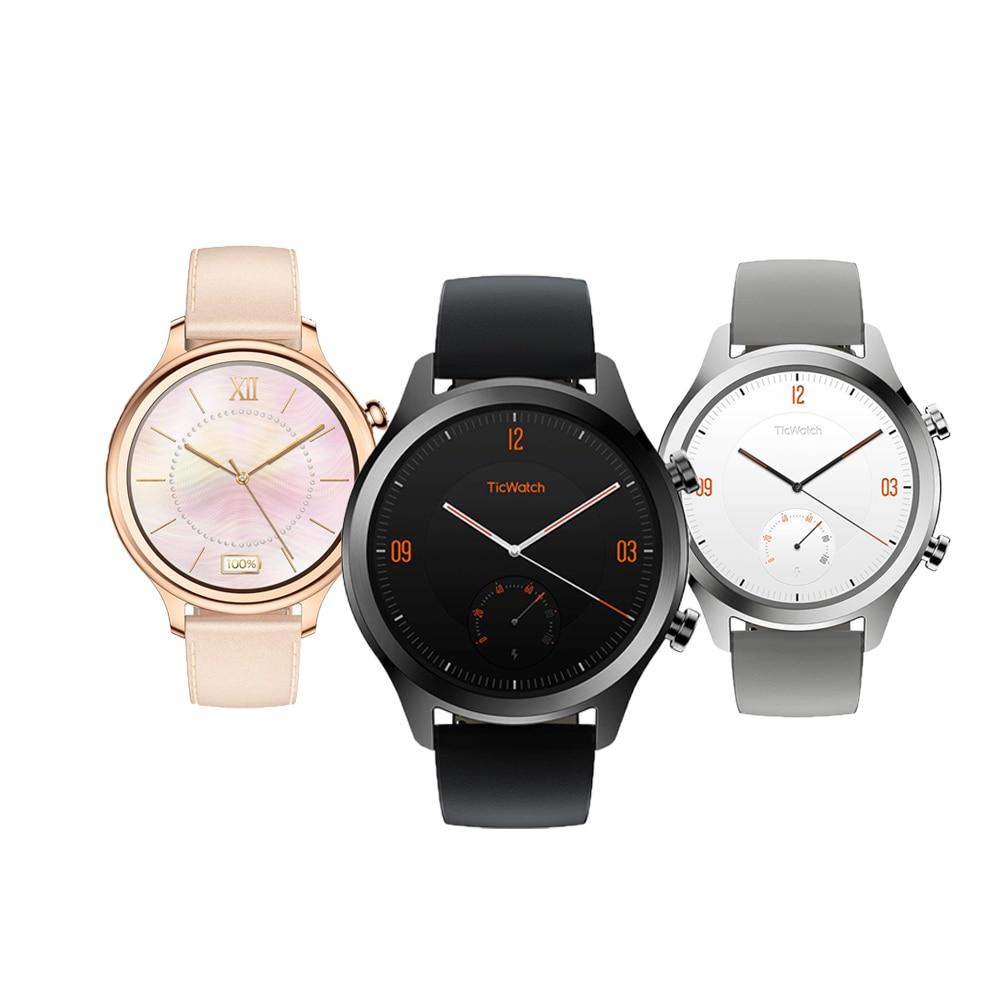 Version internationale TicWatch C2 Smartwatch porter des OS par Google IP68 GPS intégré moniteur de fréquence cardiaque Tracker de Fitness Google