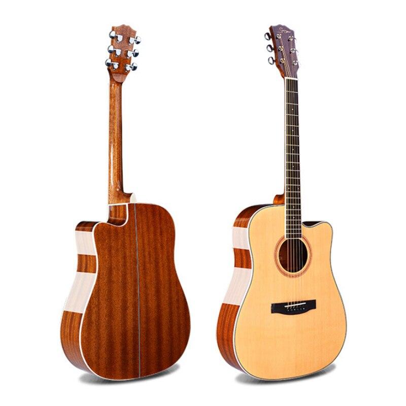 Guitare acoustique à cordes d'acier de 41 pouces, contreplaqué, guitare brillante saphir