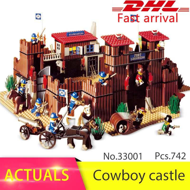 Lepin 33001 742pcs Genuine series The Idian Cowboy`s Castle Building Blocks set Bricks Toys For Children compatible 6769 10551 elves ragana s magic shadow castle building blocks bricks toys for children toys compatible with lego gift kid set girls
