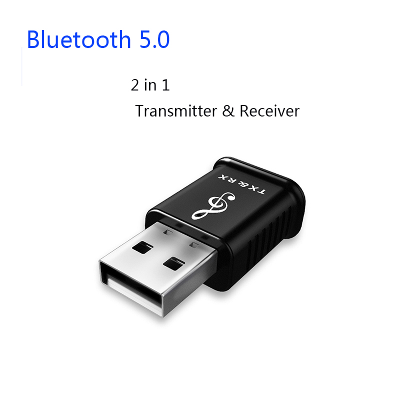 2 in 1 USB Bluetooth 5.0 Transmitter Receiver Computer TV Speaker Car Wireless Adapter Audio