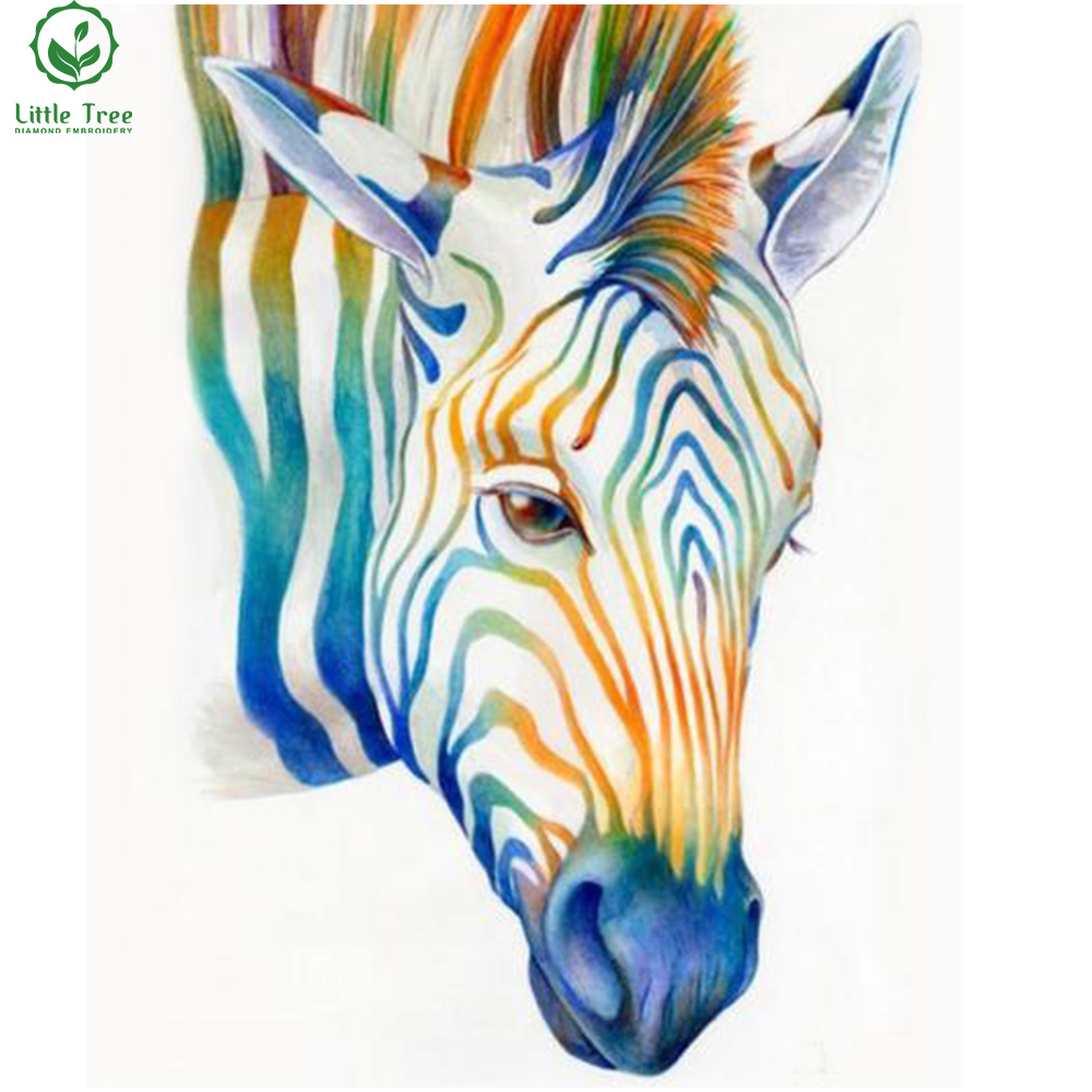 Zebra Home Accessories: Diy 5d Full Diamond Painting Color Zebra Modern Home