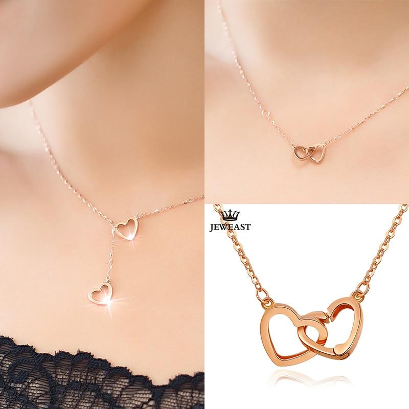 XXX puro collar de oro de 18 k colgante para mujer cadena de encanto - Joyas - foto 5