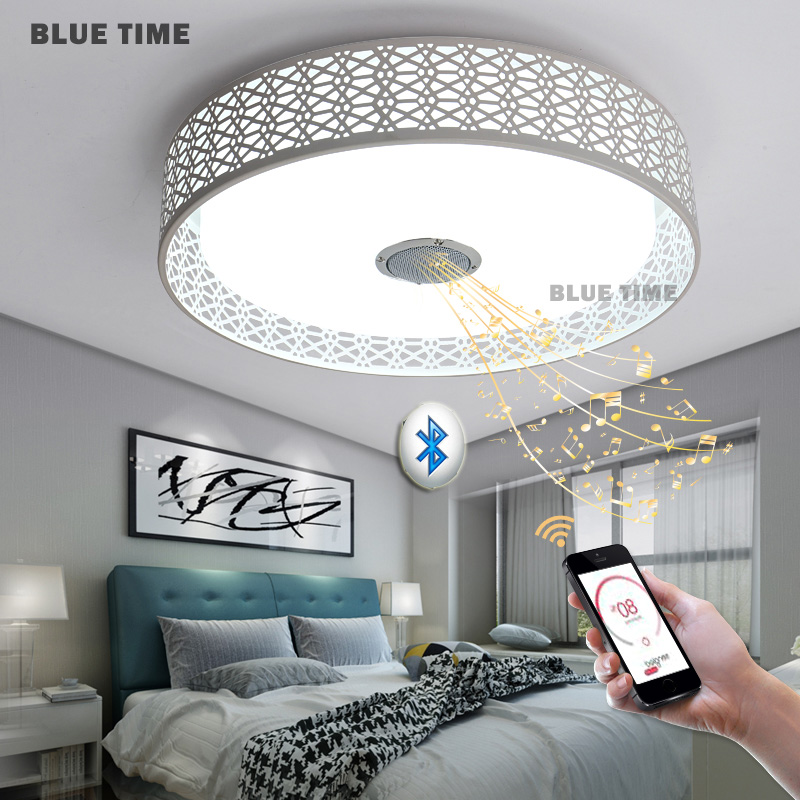 Intelligent modern led chandelier bluetooth music lights rgb color intelligent modern led chandelier bluetooth music lights rgb color change lamps with mobile phone app iosandroid 36w led light in chandeliers from lights aloadofball Gallery