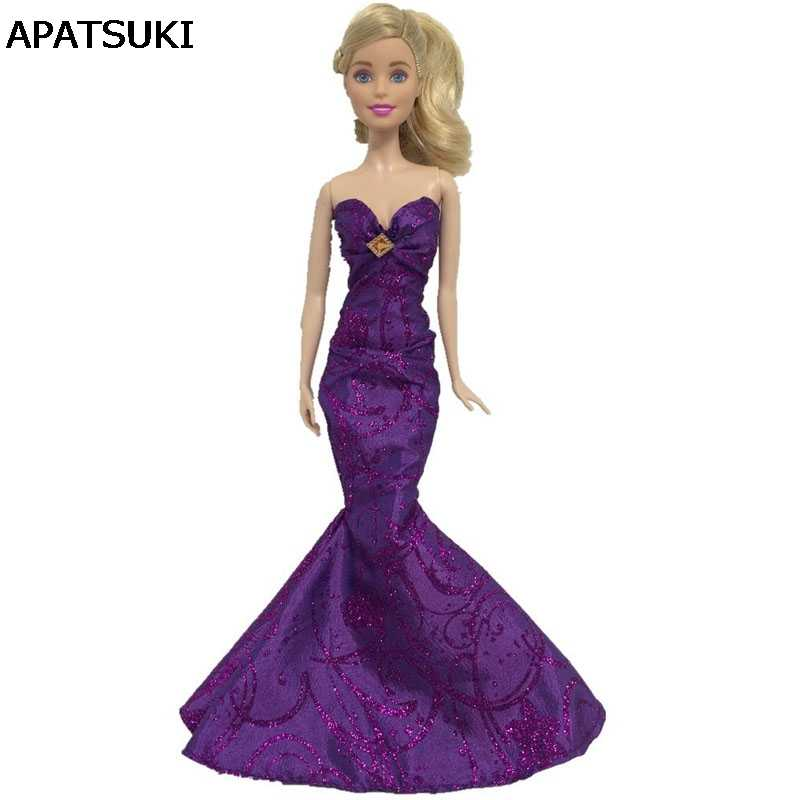 6afb71f8 Purple Sexy High Fashion Mermaid Tail Doll Dress For Barbie Doll Clothes  Evening Dresses Party Gown