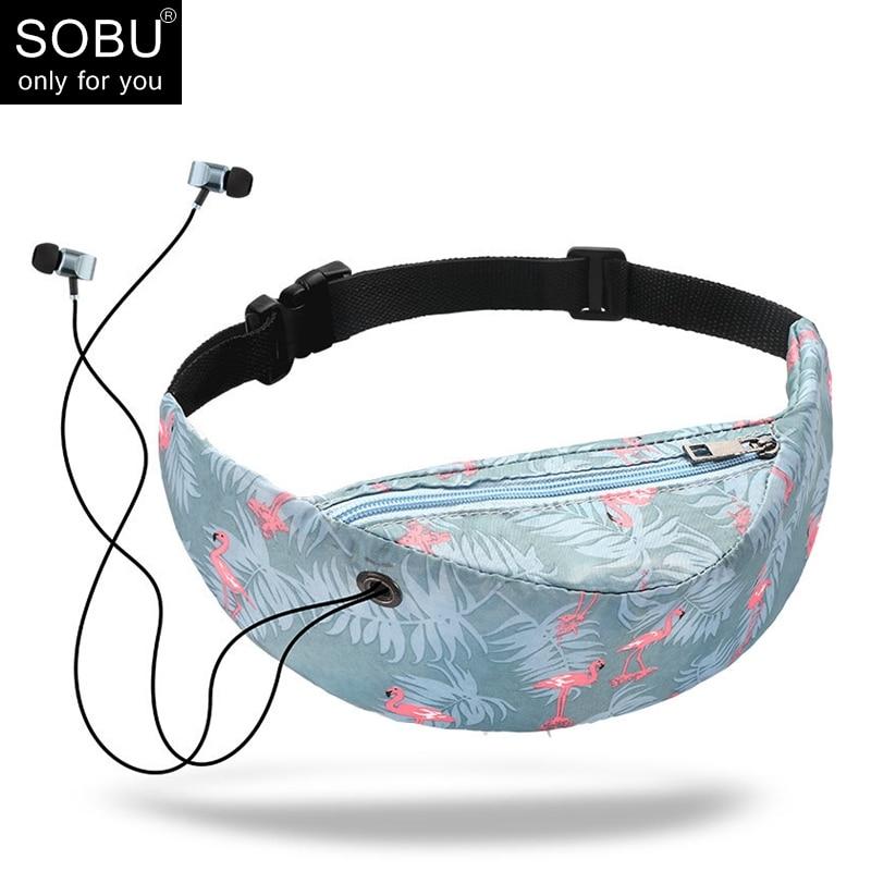 Fashion 3D Colorful  Print Waist Bag Men Women Fanny Packs Hip Belt Bags Money Travelling Mountaineering Mobile Phone Bag T012