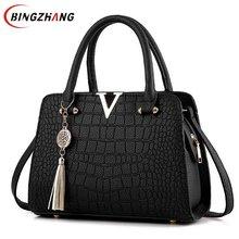 Крокодил Кожа PU Для женщин сумка V буквы дизайнер Сумки качество леди плечо Сумки через плечо Для женщин сумка l4-2797