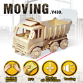 Robotime Remote control Engineering Vehicle 3d Wood Puzzle Cars Truck Tank Motocycle