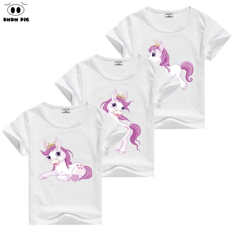 DMDM PIG Horse T Shirt font b Baby b font Kids Short Sleeve T Shirts For