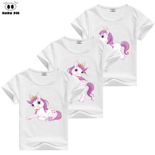 DMDM PIG Horse T Shirt Baby Kids Short Sleeve T-Shirts For Girls TShirt Children's Toddler Clothing Tops Tee Size 6 8 9 10 Years