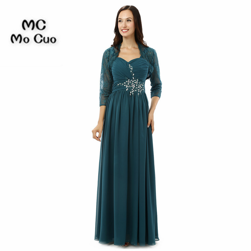Plus size 2017 Elegant Mother of the Bride Dresses with Jacket dress for graduation moth ...