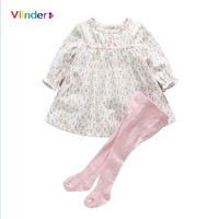 Vlinder 2pc Baby Set 2017 New Fashion Spring Autumn Girl Clothes Print Floral Newborn Long Sleeve