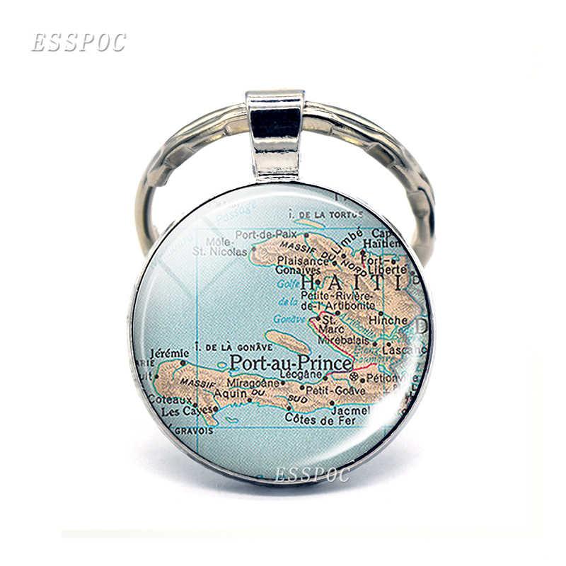 Северная Америка страны карта стеклянный кулон брелок Канада Мексика КостаРика модный Сувенирный брелок ювелирные изделия Подарки для женщин мужчин