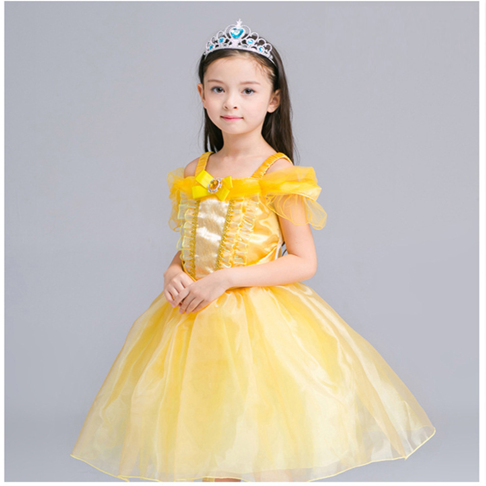 ILEEBAY Fairy Tale Beauty and The Beast Belle Princess Dresses Performance Dance Kids Costume Cosply Clothes Girls Evening Dress наклейки детские depesche блокнот topmodel omg с наклейками