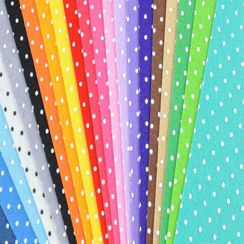 b2deea677323f Detail Feedback Questions about Felt Fabric Polka Dot Printed 20 MIX ...