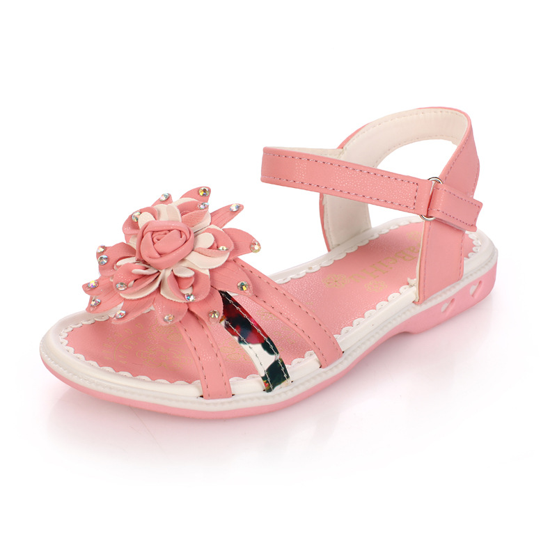 Toddler Girl Princess Sandals Lovely Flowers Infant Sandal Anti slip Soft  Rhinestone Sandals Baby Girl Shoes Cheap Clearance -in Sandals   Clogs from  Mother ... 7abecfee8a31