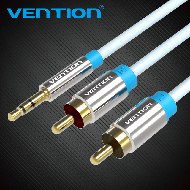 Vention RCA Audio Cable 2RCA Male to 3.5mm Jack to 2 RCA AUX Cable rca Video Aux Cable for Home Theater iPhone Headphone