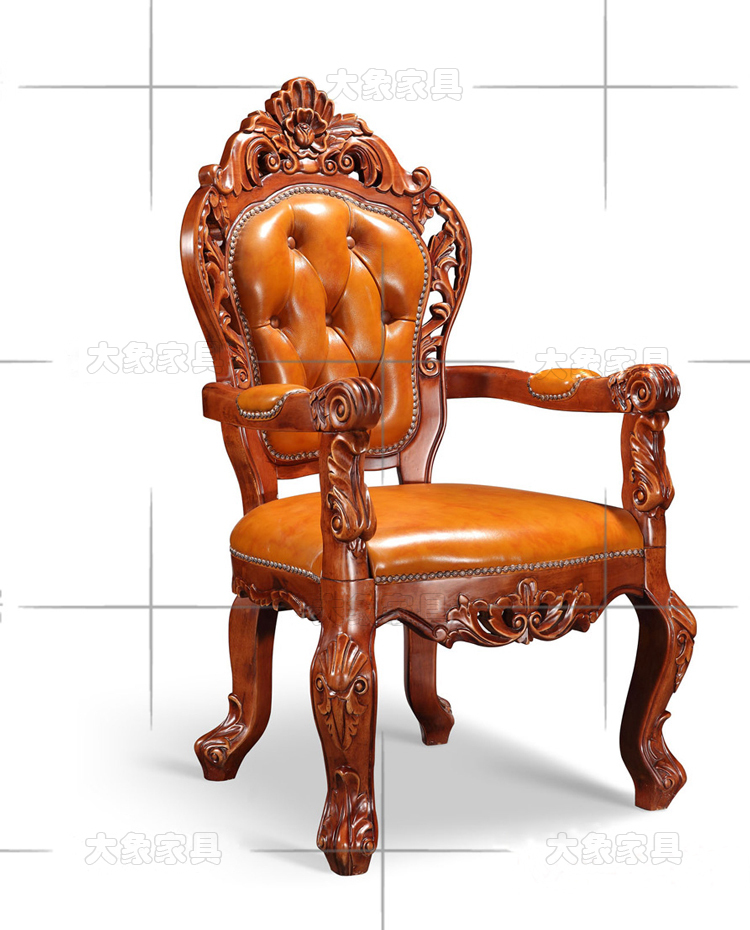 Hotels Continental Antique Wood Dining Chair Mahjong Armchair American Desk Leather In Shampoo Chairs From Furniture On Aliexpress