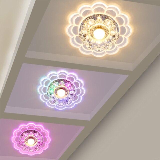 modern spot lighting. Modern Spot Crystal Led Ceiling Lamp Aisle Veranda Lighting Down Surface Mounted LED Lights Corridor -