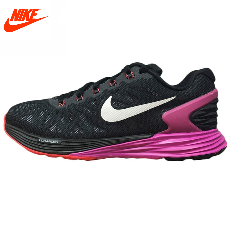 Intersport Original New Arrival NIKE Lunar Women's Running Shoes Sneakers Breathable Mesh Surface Red Blur Sole Comfortable apple summer new arrival men s light mesh sports running shoes breathable fly knit leisure comfortable slip on sneakers ap9001