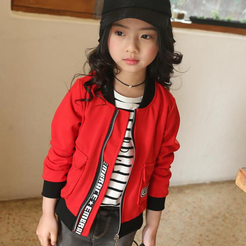 2017 Spring Girls Jacket Windbreaker Children Clothing Long Sleeve ...